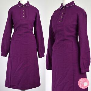MULBERRY, PETER PAN COLLAR 1940s VINTAGE LANDGIRL DRESS 10-12