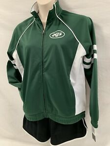 GIII For Her NFL Womens New York Jets Legend Track Jacket Green White XL NWT
