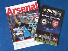 Arsenal v Udinese - August 2011 - Home & Away Champions League Programmes