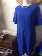 BNWT  SIZE UK 22 (EUR 48) F & F Signature Blue DRESS- Necklace-party RRP £35