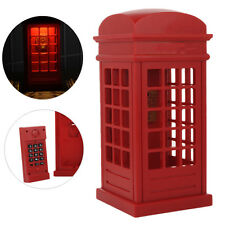 Novelty Telephone Booth Home Wired Phone Tabletop Corded Telephone Home Decor