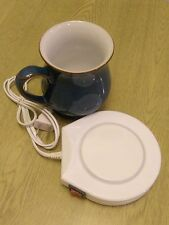 White Electric Powered Coffee or Tea Cup Warmer Heater Pad (Ideal Xmas Gift)