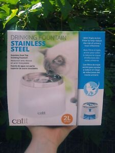 Catit Stainless Steel Drinking Fountian