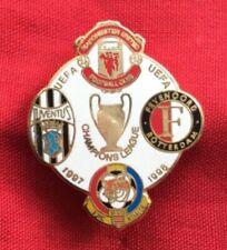Badge Pin lapel Man Utd Juventus Feyenoord Kosice  Champions League 97-98