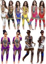 Women Blouse African Dashiki Straight Shirt Kaftan Party Hippie Dress Suit Lot
