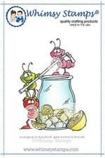 """Stempel """"Ants Drink Up"""" Whimsy Stamps, Ameisen mit Limonadenglas, rubber stamp"""