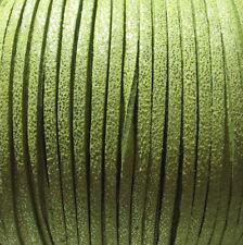 3M CORDON DAIM VELVET FIL TEXTILE ROSE SUEDINE FUCHSIA PAILLETTES 3x1mm *C147
