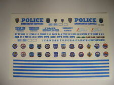 NYPD ESU 1:64 Water slide Decal set Fits GL Police Vehicles