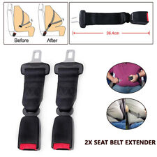 2PCS Seat Belt Extender 36CM Safety Extension Buckle Trim For Car Ven SUV Bus