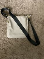STEVE MADDEN Tan Faux Leather Black Strap Convertible Crossbody/Shoulder Bag