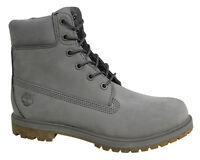 Timberland AF 6 Inch Premium Leather Mono Grey Lace Up Womens Boots A1KLW T5