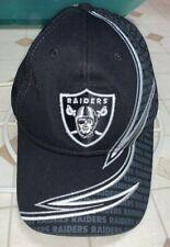 Nice Oakland / Las Vegas Raiders Hat Cap Reebok OSFA Black Lightning Bolt