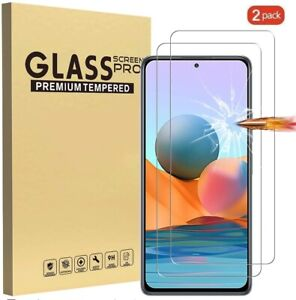 (2 Pack) Tempered Glass Screen Protector For Xiaomi Redmi Note 10 Pro