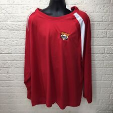Nwt‼ Men's Cooperstown Dream Park Baseball Red Long Sleeve Athletic Shirt Sz 3xl