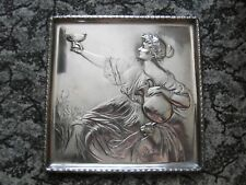 WMF____ LADY and PANTHER____ART NOUVEAU____SILVER