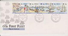 (Icf254) 1987 Au Fdc 5strip the 1st fleet (Dz)