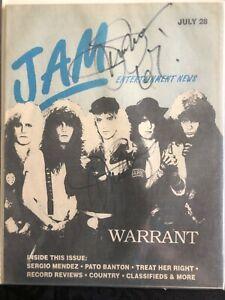 Autographed Jam Magazine signed twice by Jani Lane