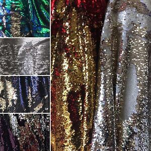 Dress gowns Little Sequins Roll Over 2-Way Stretch craft Fabric Sold by yard