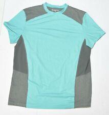 Men's Orange Theory Fitness Grey Blue Short Sleeve Athletic Shirt Size Large L