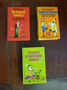BILL WANNAN Book Lot x3 Australiana ~ AUSTRALIAN Humour 1796 - 1950 + 2 More Bks