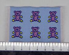 1:12 petites tissé bleu ours tapis tapis maison de poupées miniature accessorry