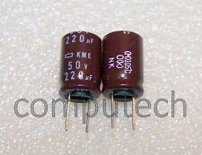 220uF 50V 105°C CONDENSATORE ELETTROLITICO Nippon Chemicon KME series 4 pezzi