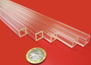 "Acrylic Square Tube Extruded 1/2"" SQ x .063"" Wall x 72"" Length, 5 Units -002"