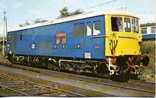 Electro Diesel Class 73 No.73142 BROADLANDS Stewarts Lane 1980 unused postcard