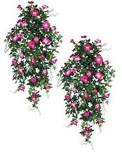 "2 Artificial 40"" Morning Glory Hanging Silk Flowers Fu"