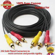 Stereo / VCR RCA Cable, 2 RCA Audio with RCA RG59 Video Gold Plated, 25 feet