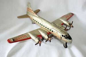 Antique LINEMAR MARX TWA AIRPLANE BATTERY OPERATED  Tin Litho Toy NR