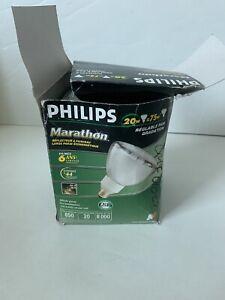 PHILIPS 20W MARATHON ENERGY SAVER REFLECTOR FLOOD BULB PAR38 8000 Hours Life