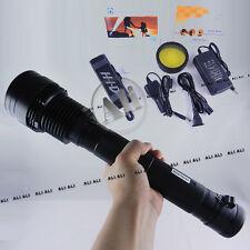 Super Bright Black 85W HID Xenon Torch Flashlight 9300mAh Battery 8500Lumen NEW