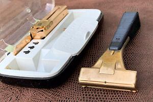 Schick Hydro-Magic Vintage Safety Razor in 3 Mark Case + Orig Blade Injector