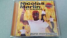 """NICOLAS MARLIN Y SU ORQUESTA """"PURO MERENGUE"""" CD 12 TRACKS COMO NUEVO"""