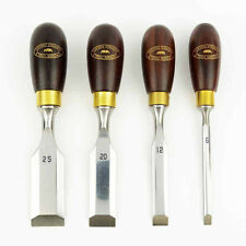 Big Horn 21005 / Crown 174Rb Boxed Butt Chisels, 4-Piece