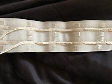 Ruflette écrue galon fronceur 2 fils pour rideaux 45 mm 4,5 cm de large au mètre