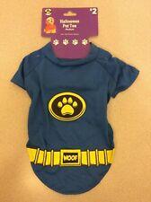 Medium Halloween Costume Dog Pet Shirt Blue Superhero Batman Outfit Clothing