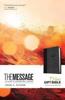 The Message Deluxe Gift Bible: The Bible in Contemporary Language (Leather / Fin