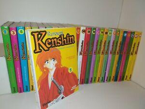 Rurouni Kenshin Guerrero Samurai Manga completo 28 tomos Edicion Española Glenat