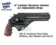 """Win Gun WG Large Airsoft Molded 6"""" Leather Revolver Holster"""