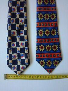 2 X Mens Burton Menswear Ties, Flower Patterns