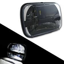 "7X6"" Black Chrome LED Bulb Light Clear Lens Sealed High / Low Beam Headlight"