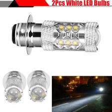 2x 80W Super Bright Motorcycle Bike H6 LED Bulbs Fog DRL Daytime Driving Light
