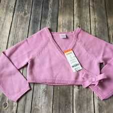 New Gymboree Cardigan Sweater Girl 3T Pink Ballet Class Wrap Church Party Easter