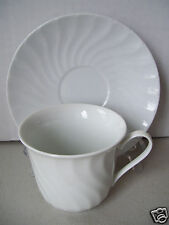 Vintage Remington by Red Sea China White Swirl Cup and Saucer Set