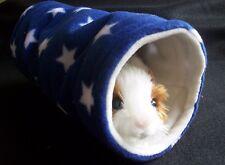 Cozy PETS CONEJILLO DE túnel Cama Casa, hurón, juego de lana, tubo, Juguete Estrella Azul