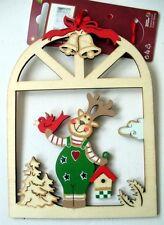 Déco Noël à suspendre : Renne en bois découpé
