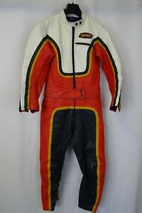 Vintage 1970's Leather Motorcycle Suit