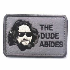 Big Lebowski The Dude Abides Sew On Patch Coen Brothers Film Gift BNWT/NEW